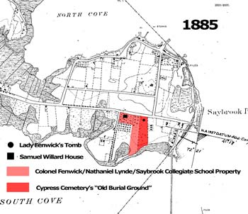 1885 Map of Saybrook Point